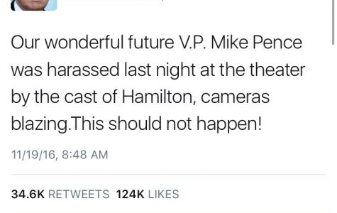 "V.P. Elect Mike Pence ""Harassed"" By Hamilton Cast"