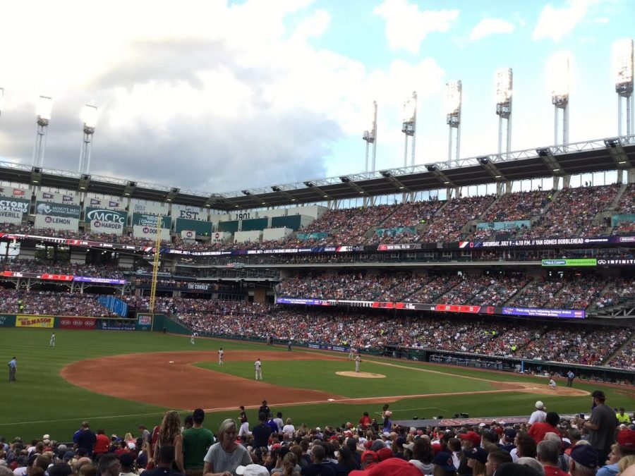 A beautiful day at Progressive Field.