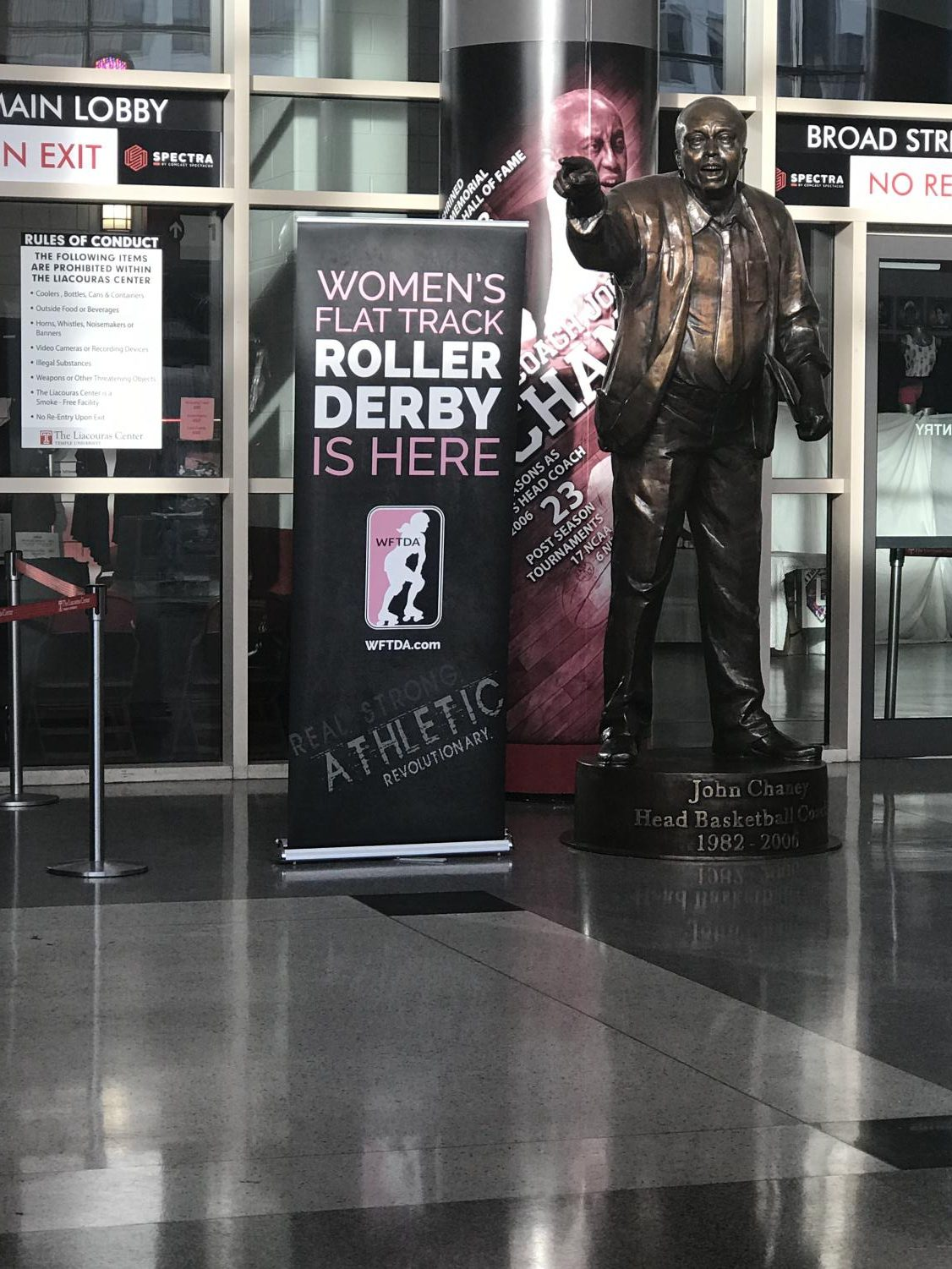 This is a sign that was displayed at the WFTDA International Championships.
