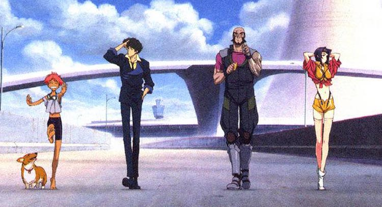 From left to right Ein Ed Spike Jet Faye