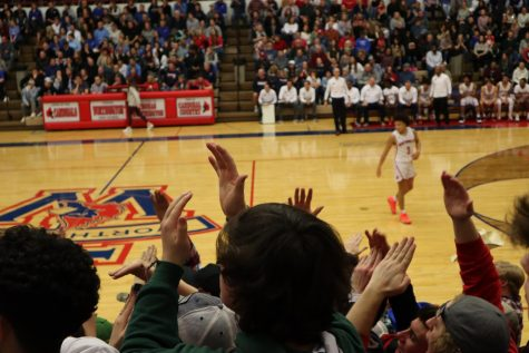 Thomas Worthington students cheer on the TW Boys basketball team.